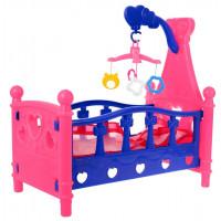 Inlea4Fun SLEEPING BED Postieľka pre bábiky - ružová