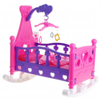 Kolíska pre bábiky Inlea4Fun ružový