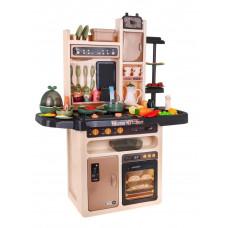 Detská kuchynka so 65 doplnkami Inlea4Fun MODERN KITCHEN  - hnedá Preview