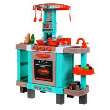 Inlea4Fun KIDS COOK Detská kuchynka so svetelnými a zvukovými efektmi a doplnkami - tyrkysová Preview