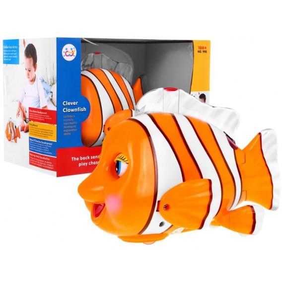 Utekajúca rybička so svetelnými a zvukovými efektmi CLEVER CLOWNFISH Inlea4Fun