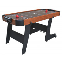 Inlea4Fun Stôl na stolný hokej 152 x 74 x 80 cm - imitácia dreva