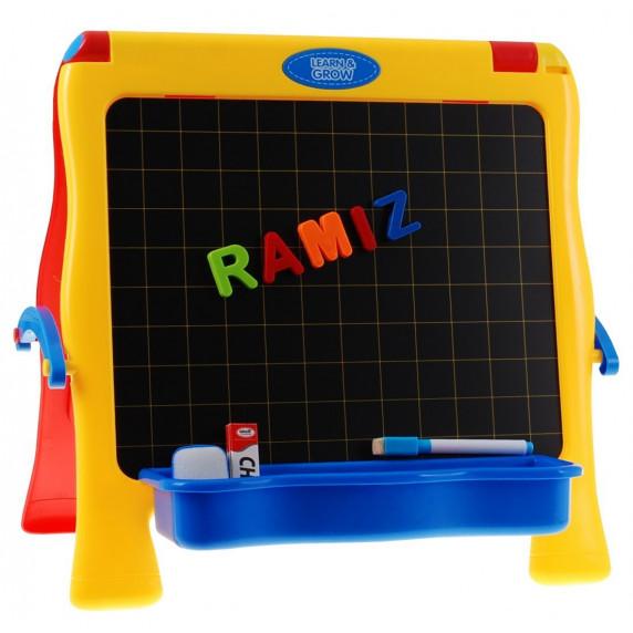 Magnetická tabuľa s písmenkami Inlea4Fun LEARN&GROW