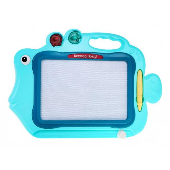 Inlea4Fun DRAWING BOARD FISH Magnetická tabuľa - modrá