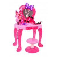 Inlea4Fun LITTLE PRINCESS Detský toaletný stolík so stoličkou
