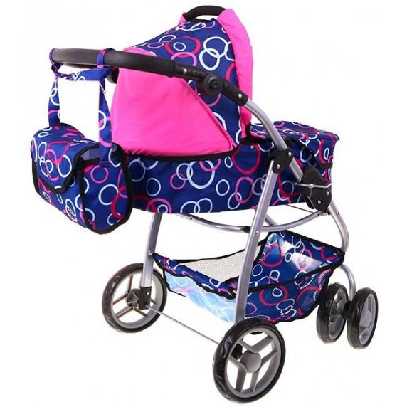 Kočík pre bábiky Inlea4Fun ZEMONA - modrý