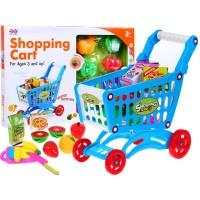 Nákupný košík s ovocím a zeleninou - modrý
