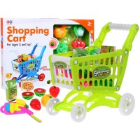 Nákupný košík s ovocím a zeleninou - zelený