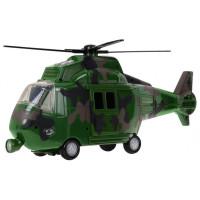 Vojenský vrtuľník so svetelnými a zvukovými efektmi Inlea4Fun MUSIC COPTER