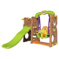 Záhradné ihrisko 3v1 s hojdačkou a šmykľavkou - Inlea4fun TEDDY BEAR
