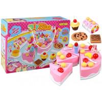 Inlea4Fun detská krájacia torta DIY CAKE BHIRTDAY s 75 doplnkami