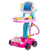 Inlea4Fun MEDICAL PLAY SET Detský lekársky vozík + 17 kusov príslušenstva