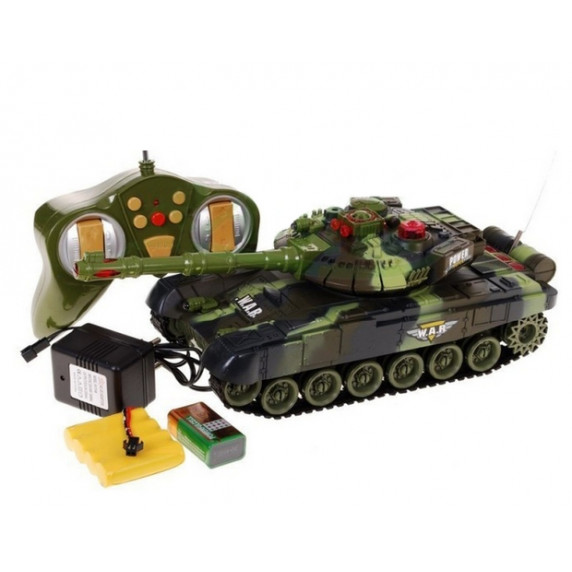 RC Tank WAR Green 1:36