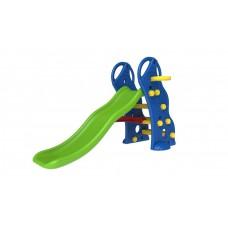 InGarden detská záhradná šmykľavka + basketbalový kôš 2v1 - modrá Preview