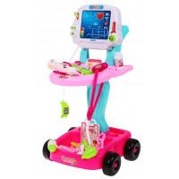Detský lekársky vozík Doctor EKG Inlea4Fun - ružový