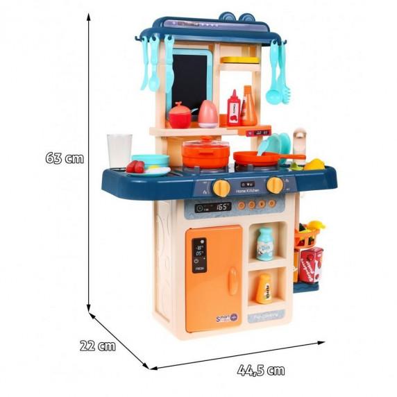 Inlea4Fun MODERN KITCHEN detská kuchynka so 42 doplnkami -modrá