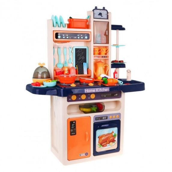 Inlea4Fun MODERN KITCHEN detská kuchynka so 65 doplnkami - modrá