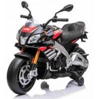 Detská elektrická motorka Aprilia Tuono V4 - čierna