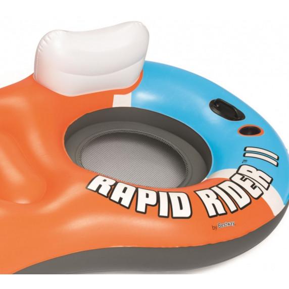 BESTWAY nafukovací ostrovček Rapid Rider X2 251 x 132 cm 43113
