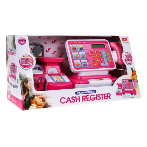 Inlea4Fun Cash Register Detská pokladňa - ružová/biela
