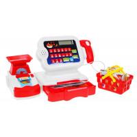 Inlea4Fun Cash Register Detská pokladňa - červená/biela