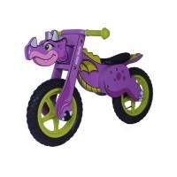 Detské odrážadlo-bicykel Milly Mally DINO violet