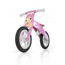 """Detské drevené cykloodrážadlo Milly Mally Flip 12"""" - pink Preview"""
