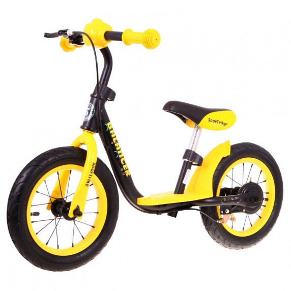 "Inlea4Fun Cykloodrážadlo BALANCER 12"" - žlté"