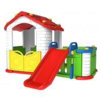Inlea4Fun Detský záhradný domček 3 v 1 - červený