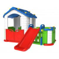Inlea4Fun Detský záhradný domček 3 v 1 - modrý