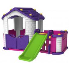 Inlea4Fun Detský záhradný domček 3 v 1 - fialový Preview