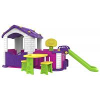 Inlea4Fun Detský záhradný domček 5 v 1 - fialový