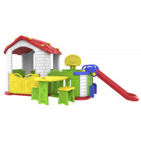 Inlea4Fun Detský záhradný domček 5 v 1 - červený