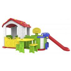 Inlea4Fun Detský záhradný domček 5 v 1 - červený Preview