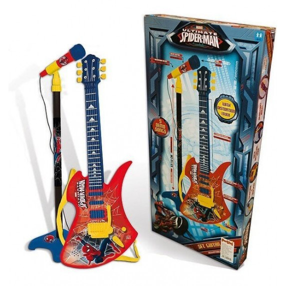 Mikrofón na stojane so 6 strunovou gitarou REIG Spiderman