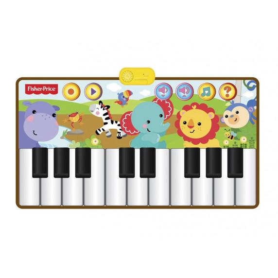 Zvieratá pralesu klavír-koberec so zvieracími hlasmi 120x65cm FISHER PRICE