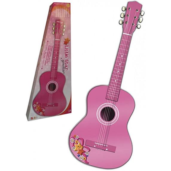 Madera Detská drevená gitara 75 cm REIG Ružová