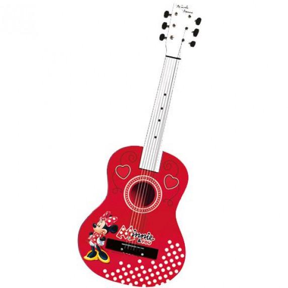 REIG 5255 Minnie Mouse drevená akustická gitara 65 cm