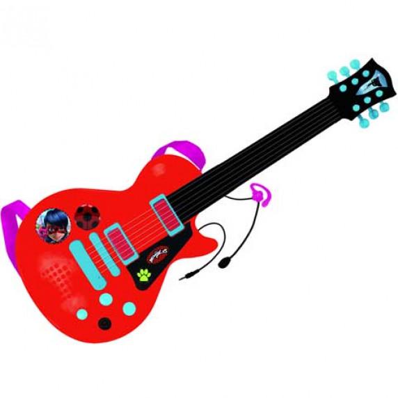 Elektronická gitara a mikrofón REIG Miraculous - Kúzelná Lienka a Čierna Mačka