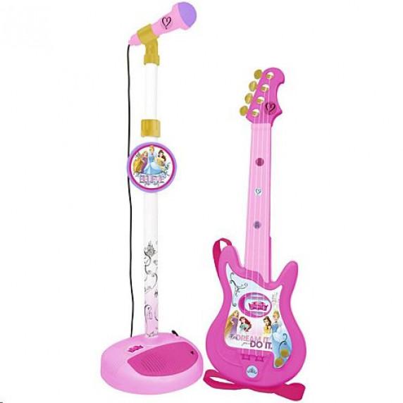 Gitara s mikrofónom a stojanom REIG Disney Princess 5279