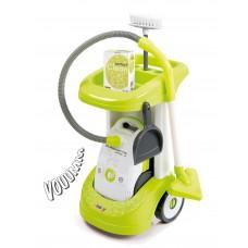 Detský upratovací vozík Smoby Rowenta s vysávačom a 3 doplnkami so zvukom zelený Preview