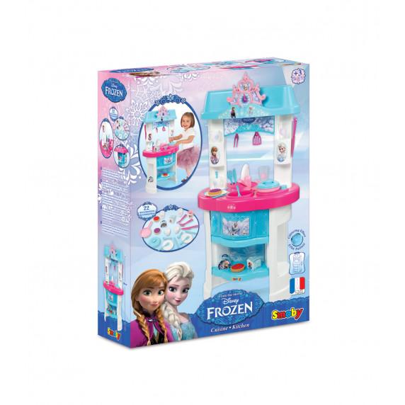 Detská kuchynka Smoby Frozen - Ľadové kráľovstvo s 22 doplnkami modrá