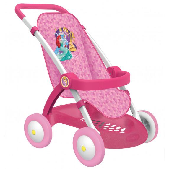 Detský športový kočík pre bábiku Disney Princezné Smoby ružový