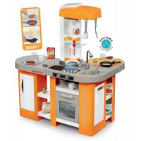 Detská kuchynka Tefal Studio XL Bubble Smoby  so zvukom magickým bublaním a 34 doplnkami oranžovo-šedá
