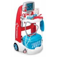 Detský lekársky vozík Medical Smoby s príslušenstvom a zvukom a 16 doplnkami