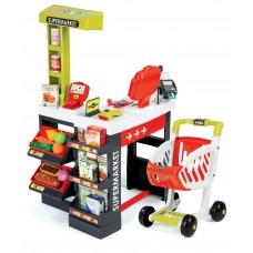 Detský elektronický obchod Supermarket Smoby s pokladňou červeno-zelený so 41 doplnkami Preview