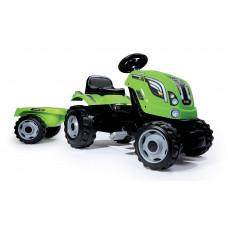 Detský šliapací traktor Farmer XL Smoby zelený