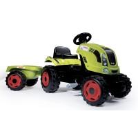 Detský traktor na šliapanie Claas Farmer XL Žaba Smoby zelený