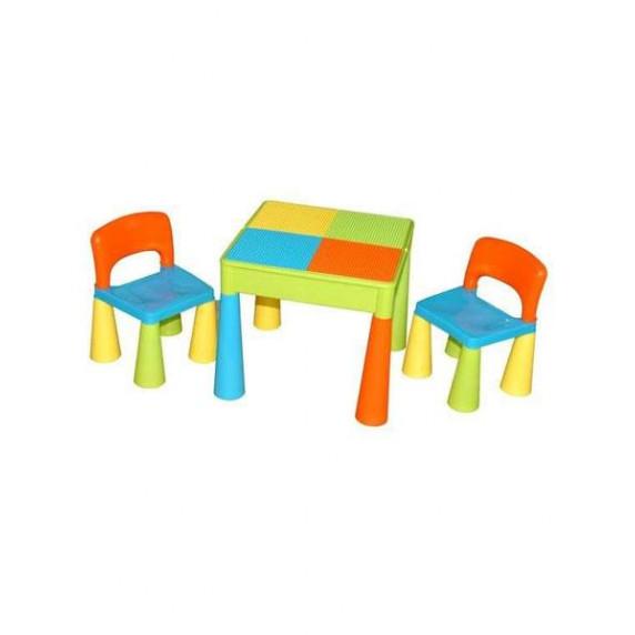 Detská sada stolček a dve stoličky multi color