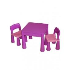 Detská sada stolček a dve stoličky fialová Preview
